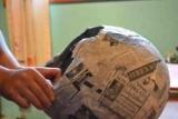 Шлем Тора в технике папье-маше