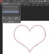 Создание пунктирной линии в Photoshop
