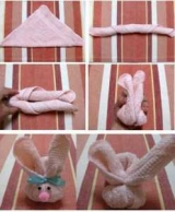 Фигуры из полотенец своими руками